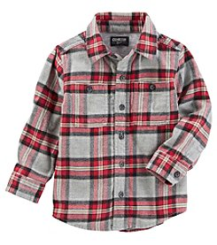 OshKosh B'Gosh Boys 2T-8 Long Sleeve Flannel Shirt