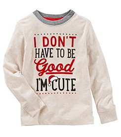 OshKosh B'Gosh Boys' 2T-4T Long Sleeve Good And Cute Tee