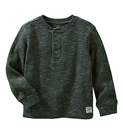 OshKosh B'Gosh Boys' 2T-8 Long Sleeve Henley Top