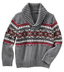 OshKosh B'Gosh Boys' 2T-8 Knit Shawl Collar Sweater
