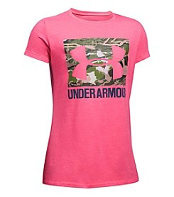 Under Armour® Girls' 7-16 Short Sleeve Camo Fill Tee