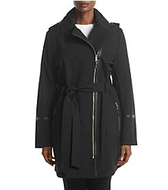 Via Spiga® Plus Size Asymmetrical Belted Coat