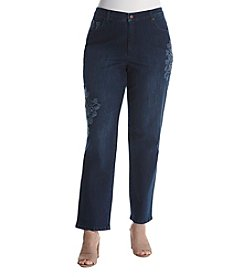 Gloria Vanderbilt® Plus Size Embroidered Amanda Jeans