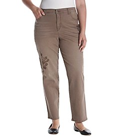 Gloria Vanderbilt® Plus Size Embroidered Amanda Pants