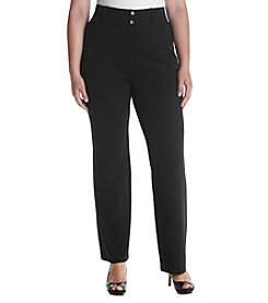 AGB® Plus Size Pull On Pants