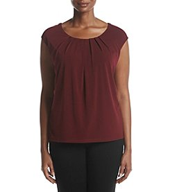 Kasper® Plus Size Pleat Neck Cami