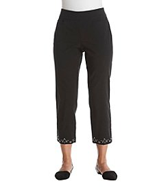 Briggs New York® Petites' Embellished Hem Pants