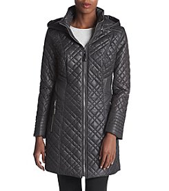Via Spiga® Quilted Coat With Attached Hood