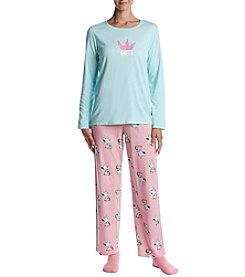HUE® Yas Queen Pajama And Socks Set