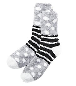 KN Karen Neuburger Dots And Stripes Knit Socks