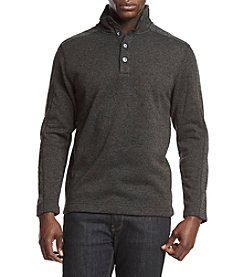 Van Heusen Button Mock Neck Sweater Fleece