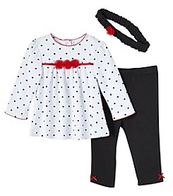 Little Me® Baby Girls' 3-12 Months Dot Long Sleeve Tunic And Pants Set
