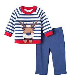 Cuddle Bear® 2 Piece Reindeer Top And Pants Set