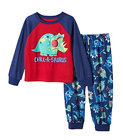 Komar Kids® Boys' 2T-4T 2 Piece Chill A Saurus Pajama Set