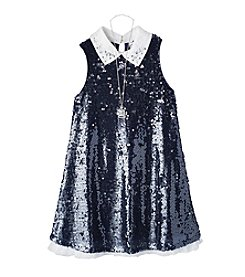 Beautees Girls' 7-16 Sequin Dress