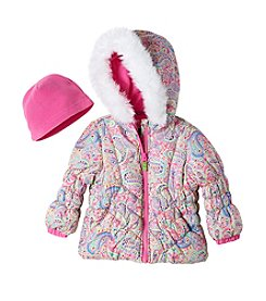 London Fog® Girls' 2T-4T Paisley Puffer Jacket