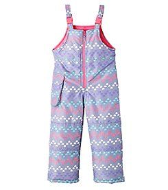 London Fog® Girls' 4-6X Chevron Heart Snowbib