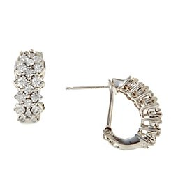 Effy 0.32-ct. t.w. Diamond Hoop Earrings