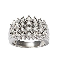Effy Sterling Silver 0.49ct. t.w. Diamond Ring