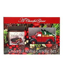 A Cheerful Giver Balsam Fir Red Truck Candle Set