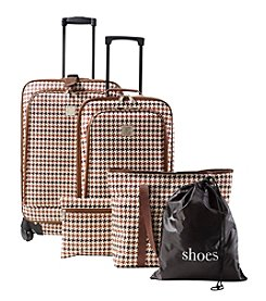 Travel Quarters 5-pc. Houndstooth 4-Wheeled Spinner Set