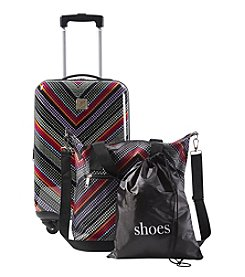 Travel Quarters Chevron 3-pc. Hardside Spinner Luggage Set
