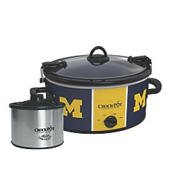 Crock-Pot NCAA® Michigan Wolverines Collegiate Crock-Pot Cook & Carry Slow Cooker With Bonus 16-oz. Little Dipper Food Warme