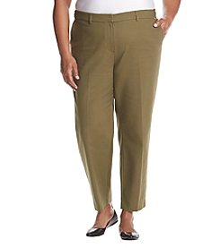 Jones New York® Plus Size Light Weight Ankle Pants