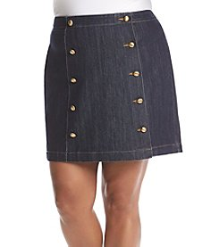 MICHAEL Michael Kors® Plus Size Button Detail Mini Skirt