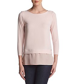 Ivanka Trump Sheer Layered Hemline Top