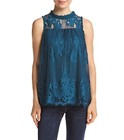 Skylar & Jade Lace Illusion Tank Top
