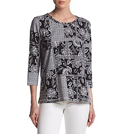 Alfred Dunner® Floral Patchwork Top