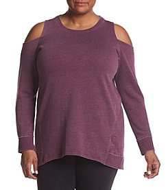 Calvin Klein Performance Plus Size Cold Shoulder Top