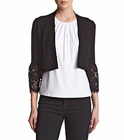 Calvin Klein Cropped Lace Bell Sleeve Cardigan