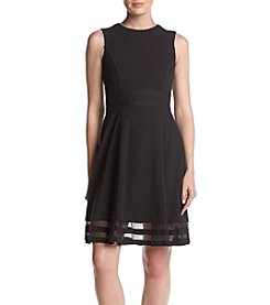 Calvin Klein Mesh Trim Dress