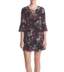 Jessica Simpson Floral Bell Sleeve Dress