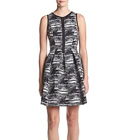 Vince Camuto® Abstract Pattern Fit And Flare Dress