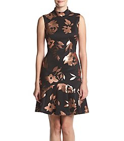 Ivanka Trump® Mock Neck Scuba Dress