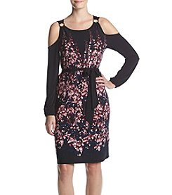 Ivanka Trump® Floral Cold Shoulder Jersey Dress