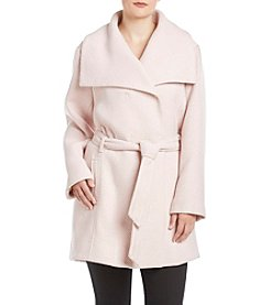 Steve Madden® Plus Size Asymmetical Belted Coat