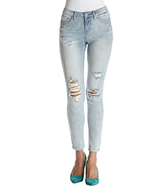 Hippie Laundry Light Wash Destructed Skinny Jeans
