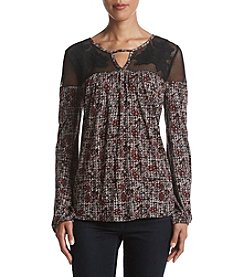 Jessica Simpson Wyoming Floral Applique Top