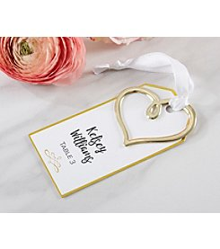 Kate Aspen Set of 12 Gold Heart Escort Card