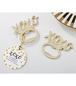 Kate Aspen XOXO Set of 12 Gold Bottle Openers