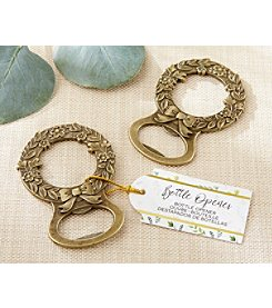 Kate Aspen Gold Set of 12 Laurel Bottle Openers
