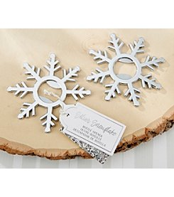 Kate Aspen Set of 6 Silver Snowflake Bottle Openers