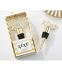 Kate Aspen XOXO Set of 6 Gold Bottle Stoppers
