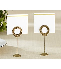 Kate Aspen Set of 12 Gold Laurel Place Card Holder