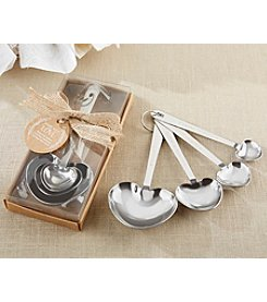 Kate Aspen Set of 6 Rustic Heart Measuring Spoons