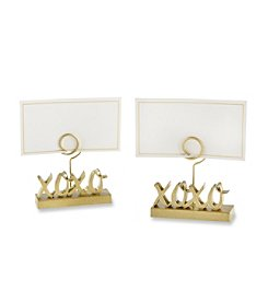 Kate Aspen Set of 12 XOXO Gold Place Card Holder